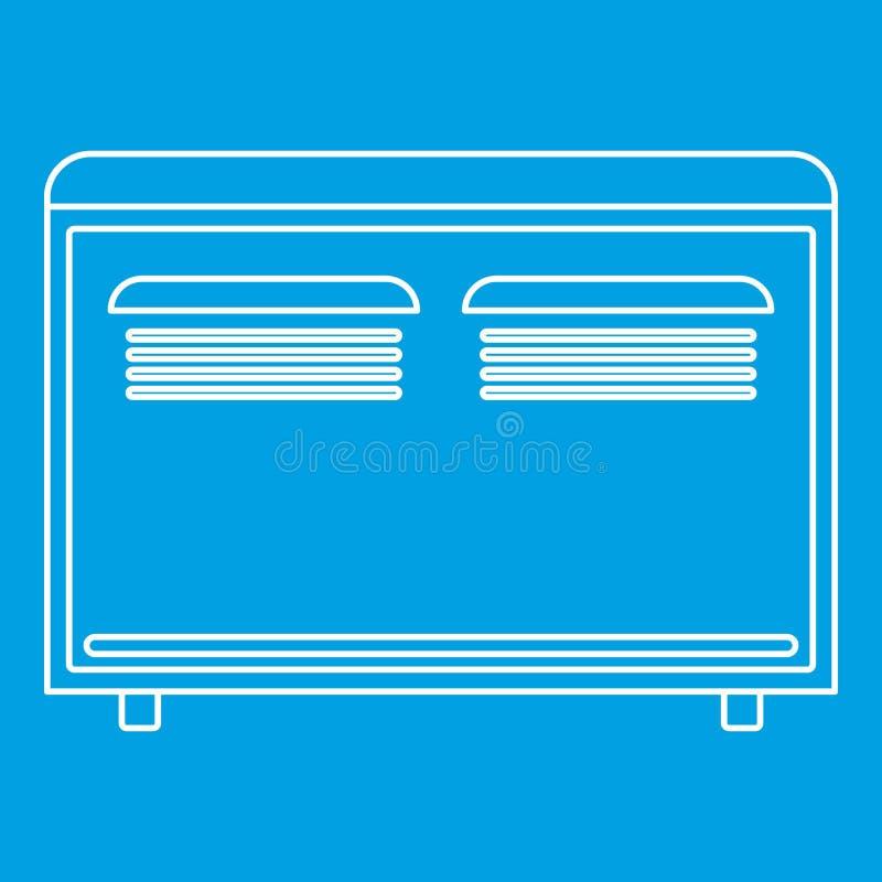 Icône d'appareil de chauffage de convecteur, style d'ensemble illustration stock