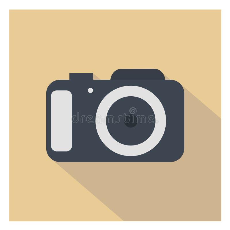 Icône d'appareil-photo illustration stock