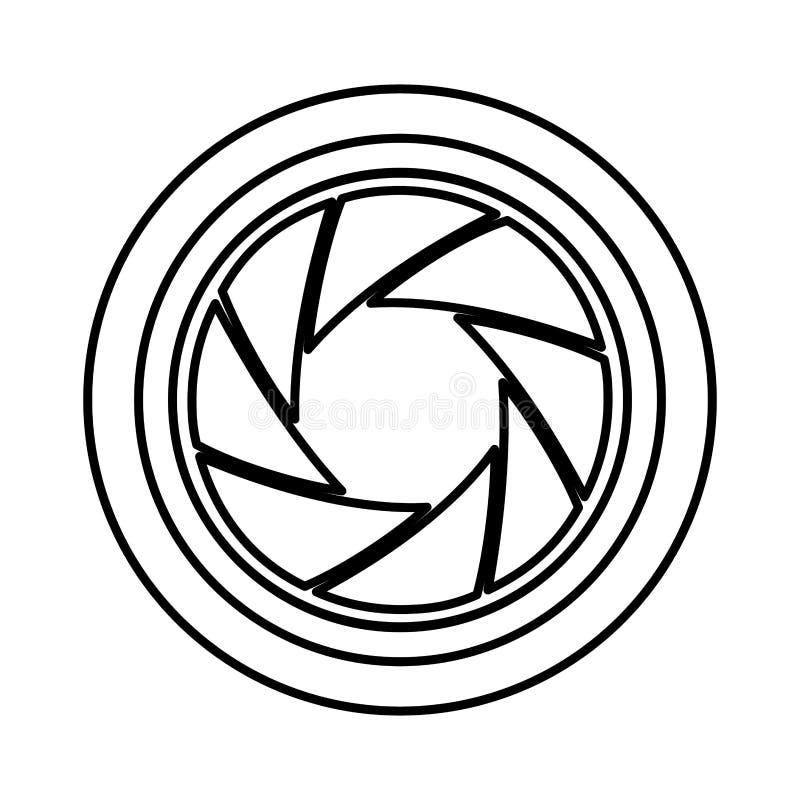 Icône d'appareil-photo de lentille illustration de vecteur