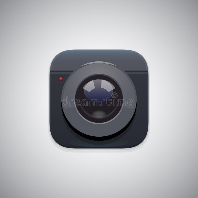 Icône d'appareil-photo de photo image stock