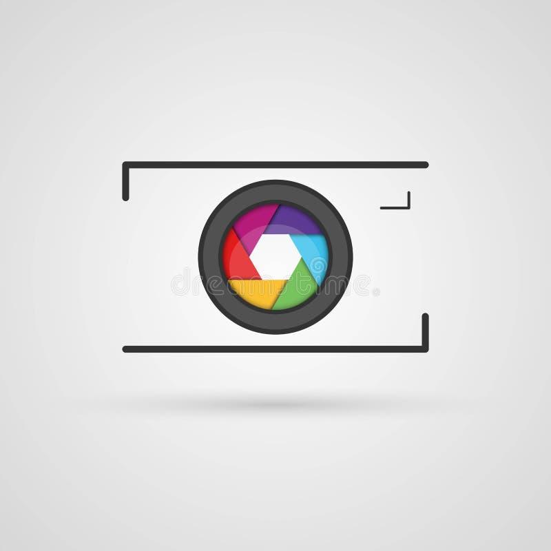 Icône d'appareil-photo de photo de vecteur illustration stock