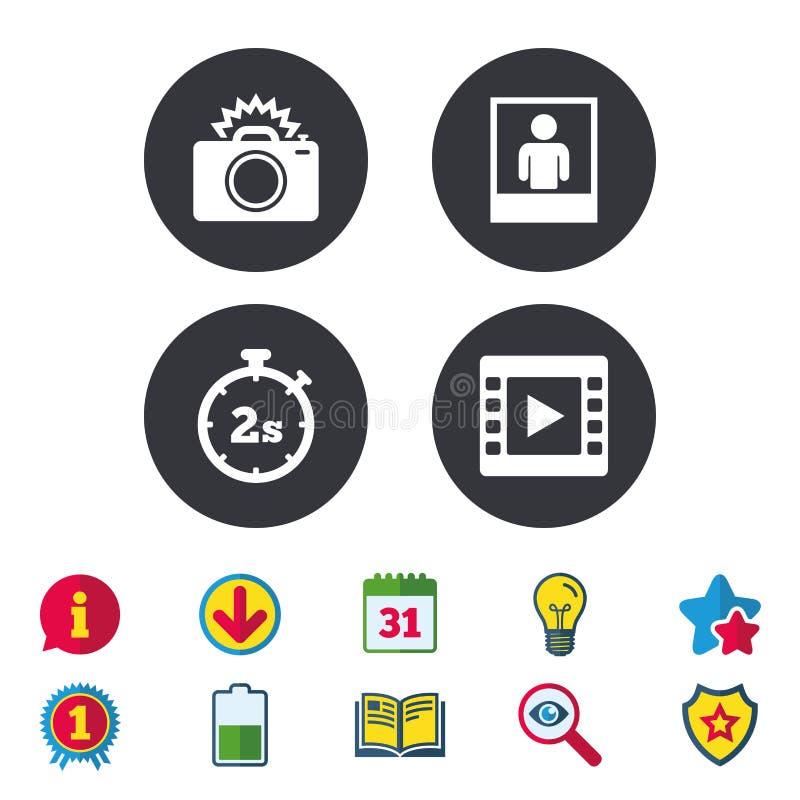 Icône d'appareil-photo de photo Image vidéo de lumière et instantanée illustration de vecteur
