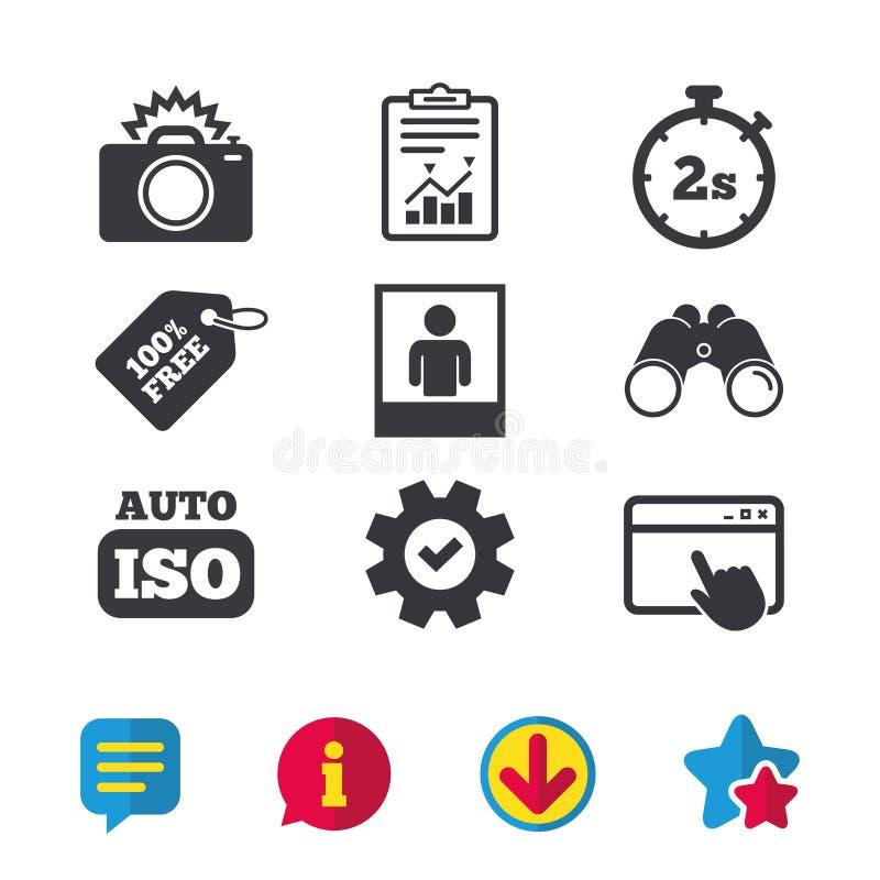 Icône d'appareil-photo de photo Lumière instantanée et OIN automatique illustration libre de droits
