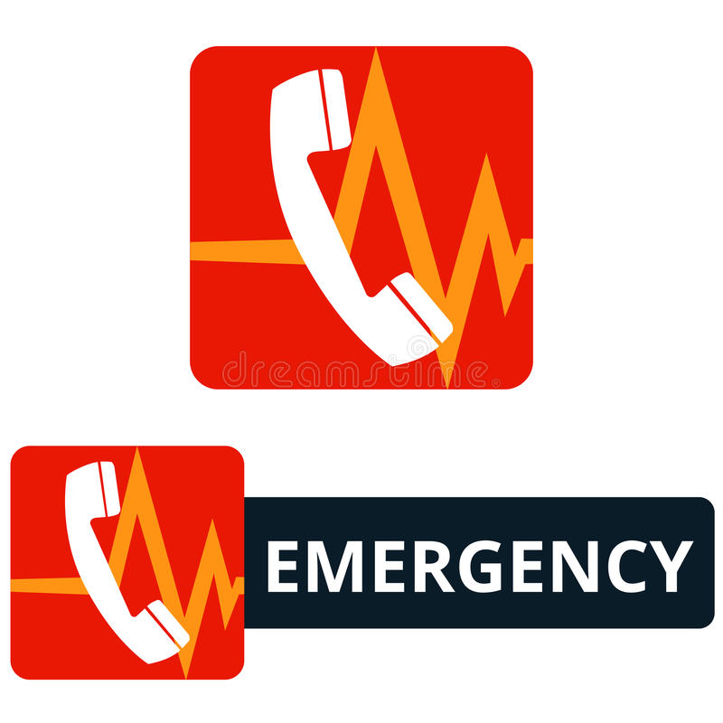 Icône d'appel d'urgence images libres de droits