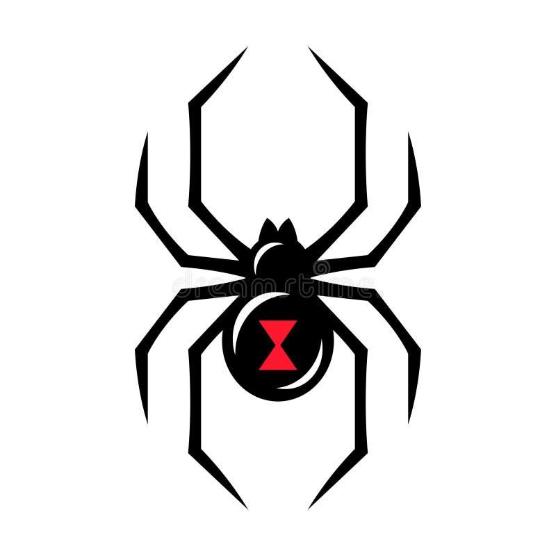 Icône d'araignée de veuve noire illustration de vecteur
