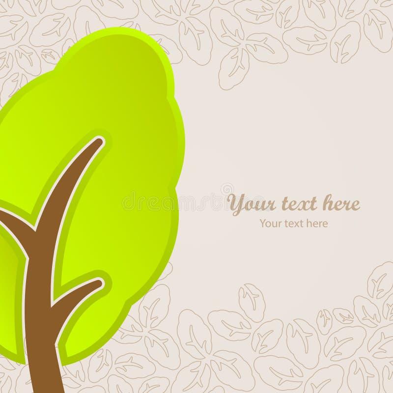 Icône d'arbre de natura d'abrégé sur conception graphique illustration de vecteur