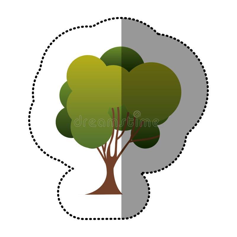 Download Icône D'art D'arbre De Timbre De Couleur Illustration Stock - Illustration du qualité, lame: 87705051