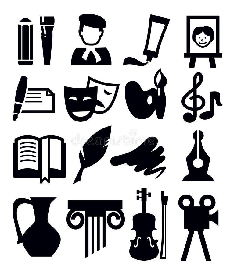 Icône d'arts illustration libre de droits
