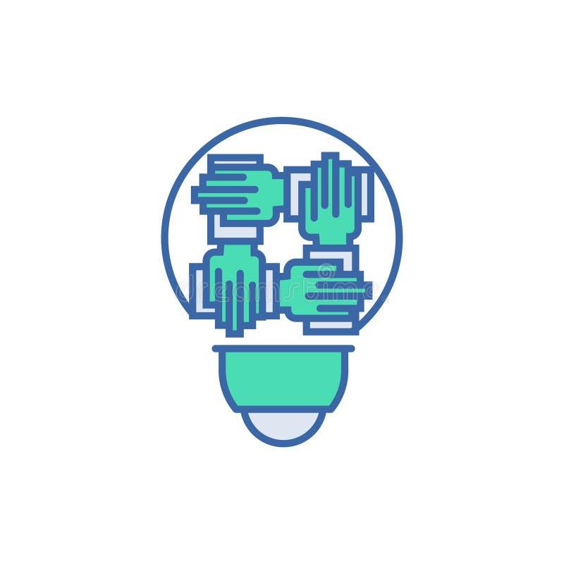 Ic?ne d'association symbole de plan et de diagramme de vecteur icône plate d'association illustration libre de droits