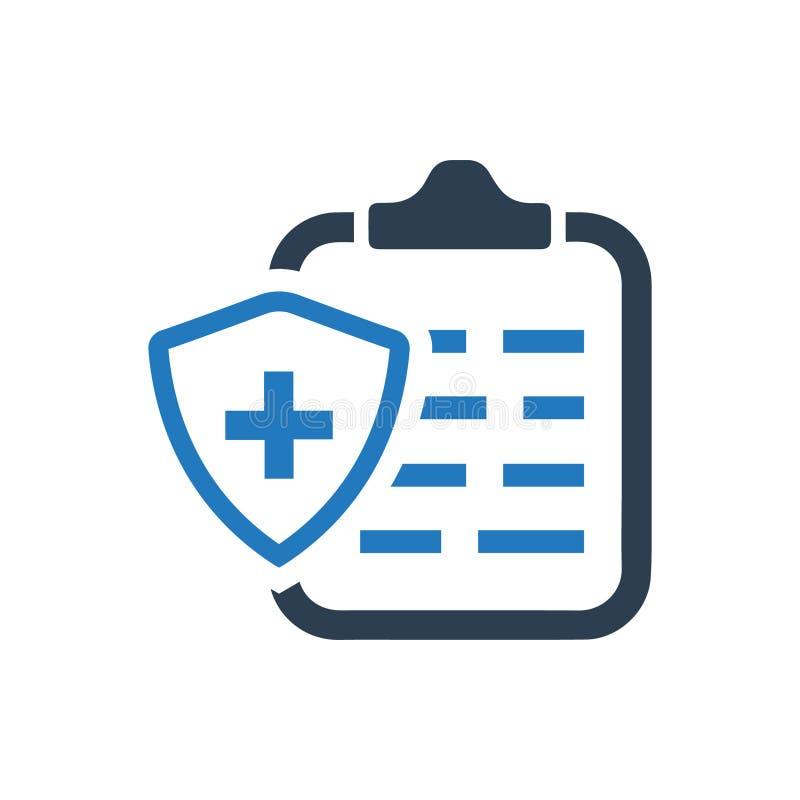 Icône d'assurance médicale maladie illustration de vecteur