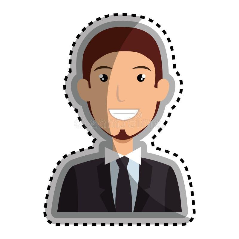 Download Icône D'avatar De Caractère D'homme D'affaires Illustration de Vecteur - Illustration du vecteur, beau: 87704853
