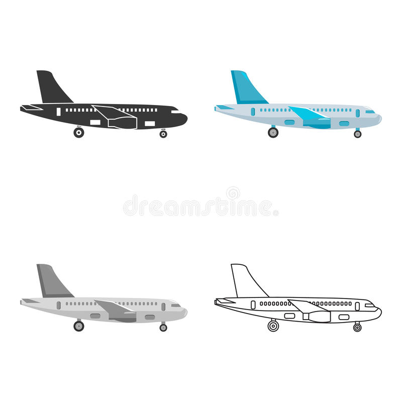 Icône d'avion d'illustration de vecteur pour le Web et le mobile illustration stock
