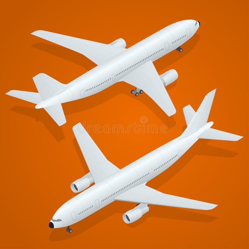 Icône d'avion 3d transport de haute qualité isométrique plat - avion de passagers illustration stock