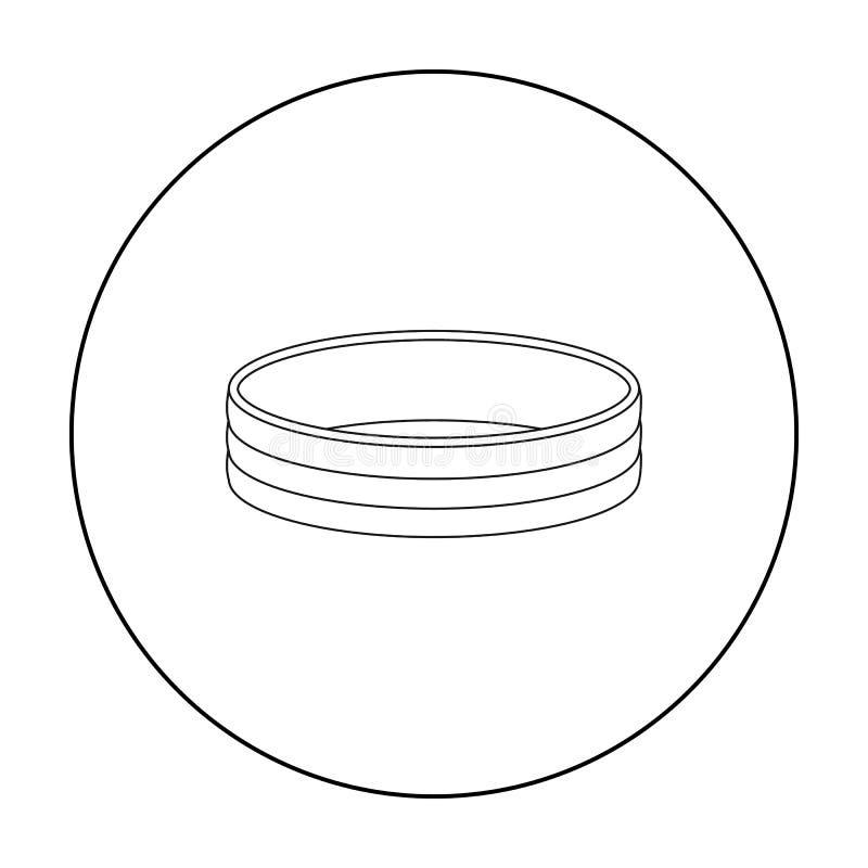 Icône d'or d'anneau dans le style d'ensemble d'isolement sur le fond blanc Illustration de vecteur d'actions de symbole de bijoux illustration de vecteur