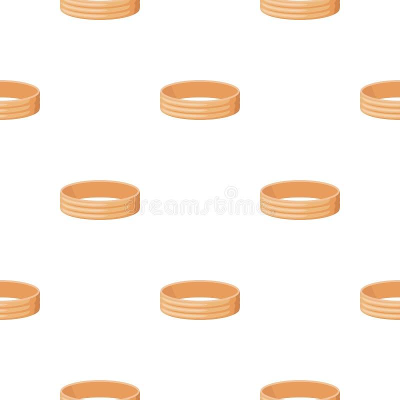 Icône d'or d'anneau dans le style de bande dessinée d'isolement sur le fond blanc Vecteur d'actions de modèle de bijoux et d'acce illustration libre de droits