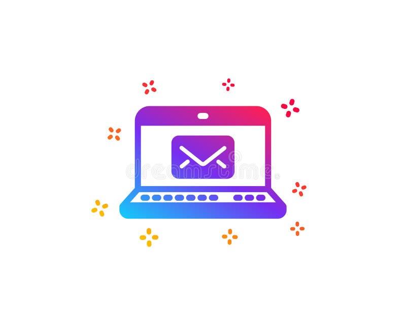 Ic?ne d'email Signe de correspondance de message Vecteur illustration libre de droits