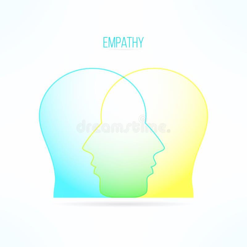 Icône d'empathie Concept Empathic de personne Conception de compassion Sentiments et émotions compatissants illustration de vecteur