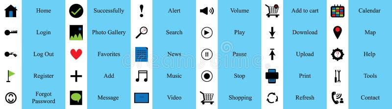 Icône d'ensemble d'élément de site Web illustration de vecteur
