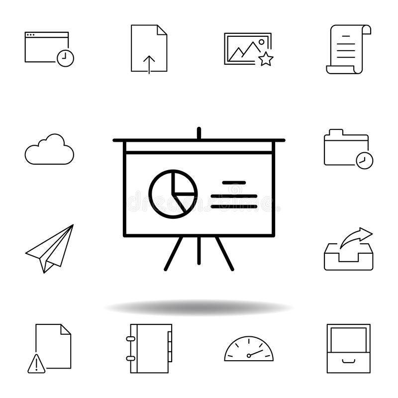 Ic?ne d'ensemble de diagramme de conseil d'Analytics Ensemble détaillé d'icônes d'illustrations de multimédia d'unigrid Peut ?tre illustration libre de droits