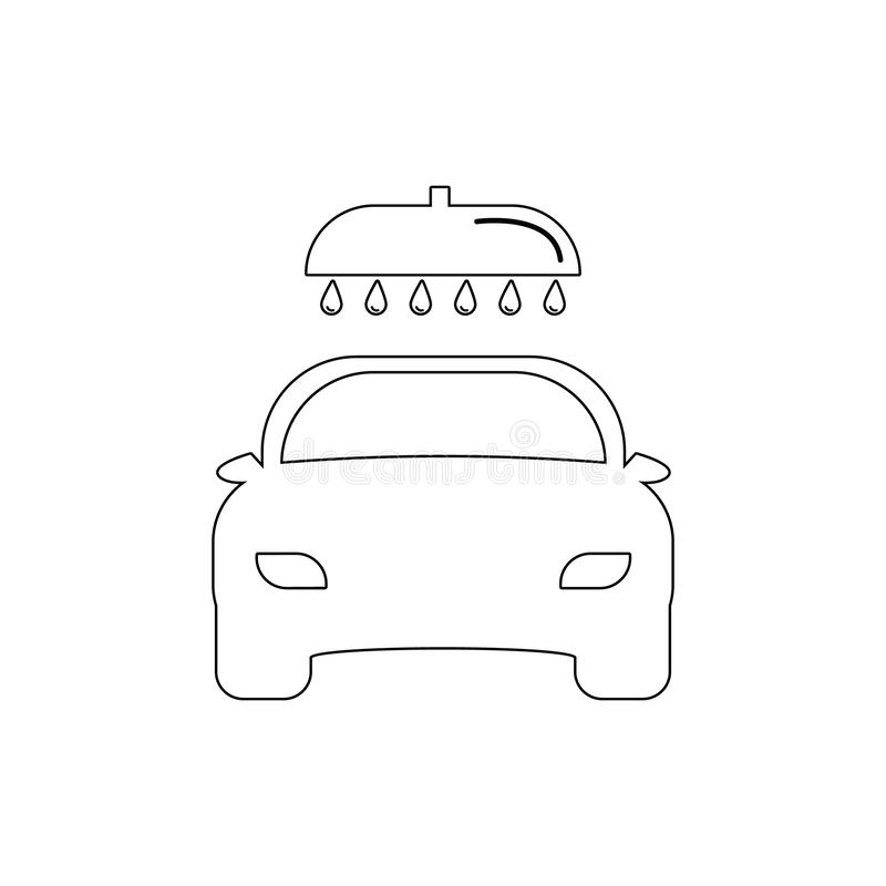 Ic?ne d'ensemble de station de lavage Éléments d'icône d'illustration de réparation de voiture Des signes et les symboles peuvent illustration libre de droits