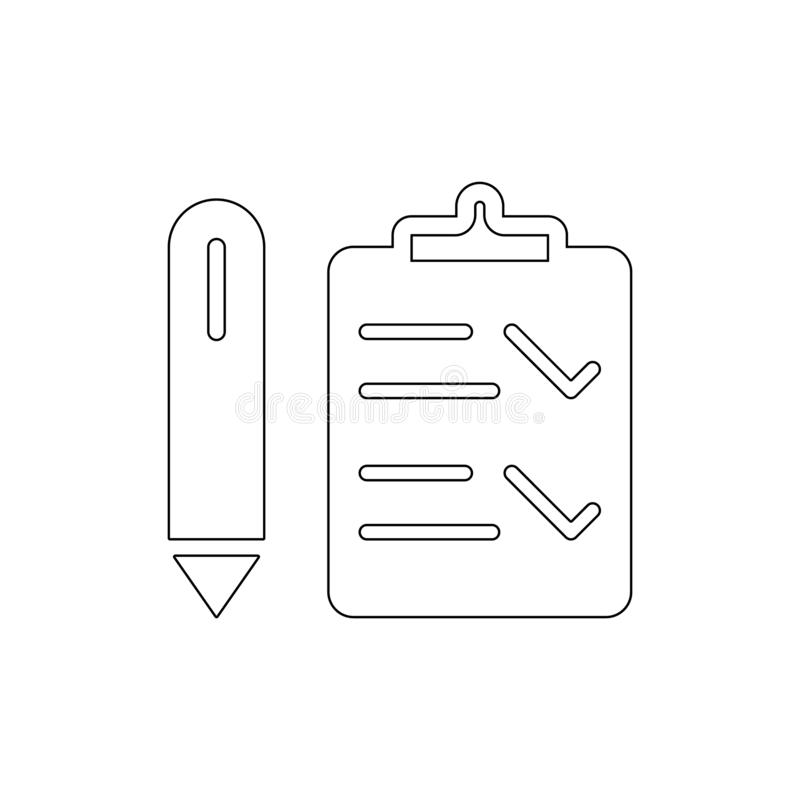Ic?ne d'ensemble d'interface de liste de contr?le Des signes et les symboles peuvent ?tre employ?s pour le Web, logo, l'appli mob illustration stock