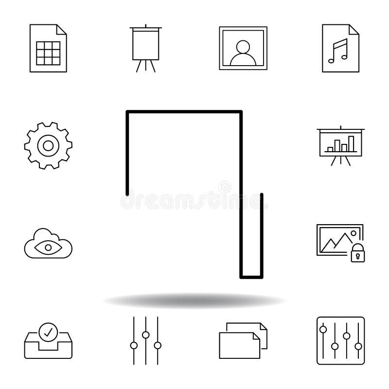 Ic?ne d'ensemble d'onde rectangulaire d'impulsion de musique Ensemble détaillé d'icônes d'illustrations de multimédia d'unigrid P illustration stock
