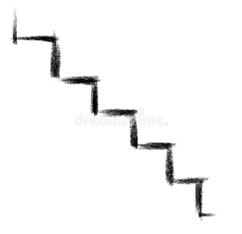 Icône d'escalier illustration stock