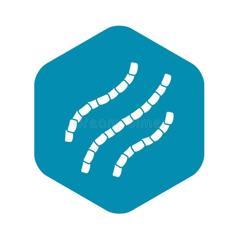 Ic?ne d'Escherichia coli, style simple illustration libre de droits