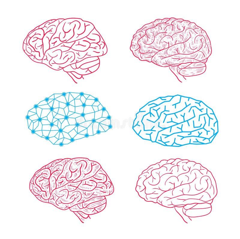 Icône d'esprit humain, illustration de vecteur illustration libre de droits