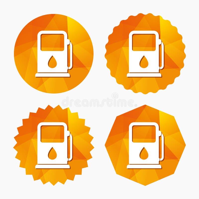 Icône d'essence ou de station service Signe de carburant de voiture illustration libre de droits