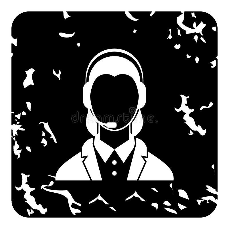 Icône d'expéditeur, style grunge illustration libre de droits