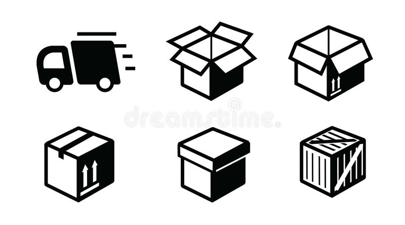 Icône d'expédition illustration stock