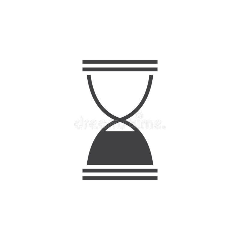 Icône d'extrémité de sablier, illustration solide de logo de sandglass, pi illustration stock
