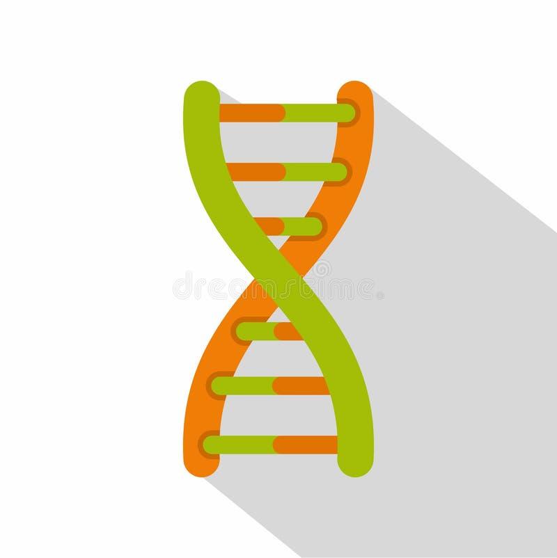 Icône d'hélice d'ADN, style plat illustration de vecteur