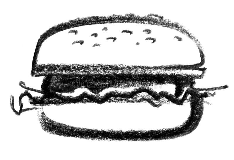 Icône d'hamburger illustration libre de droits