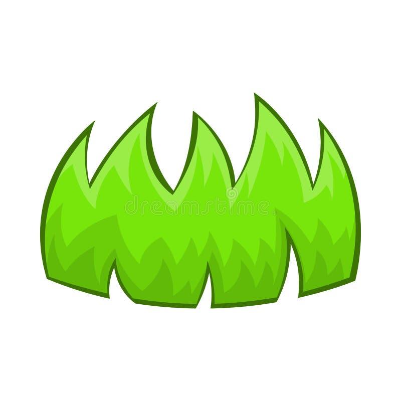 Icône d'herbe verte dans le style de bande dessinée illustration libre de droits