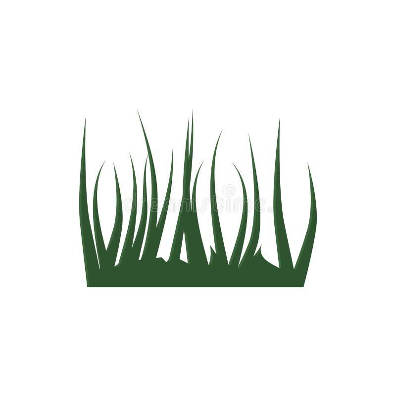 Icône d'herbe verte, style de bande dessinée illustration libre de droits