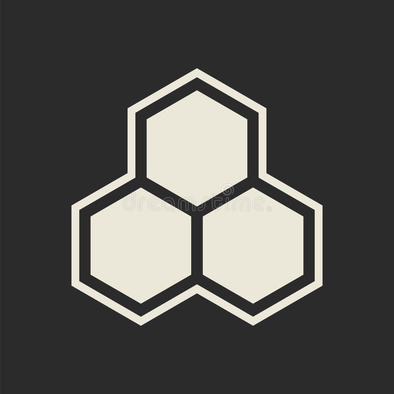 Icône d'hexagone Nid d'abeilles illustration stock