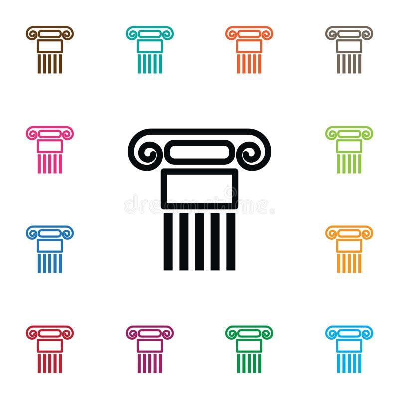 Icône d'histoire L'élément de vecteur de pilier peut être employé pour le pilier, histoire, concept de construction de colonne illustration de vecteur