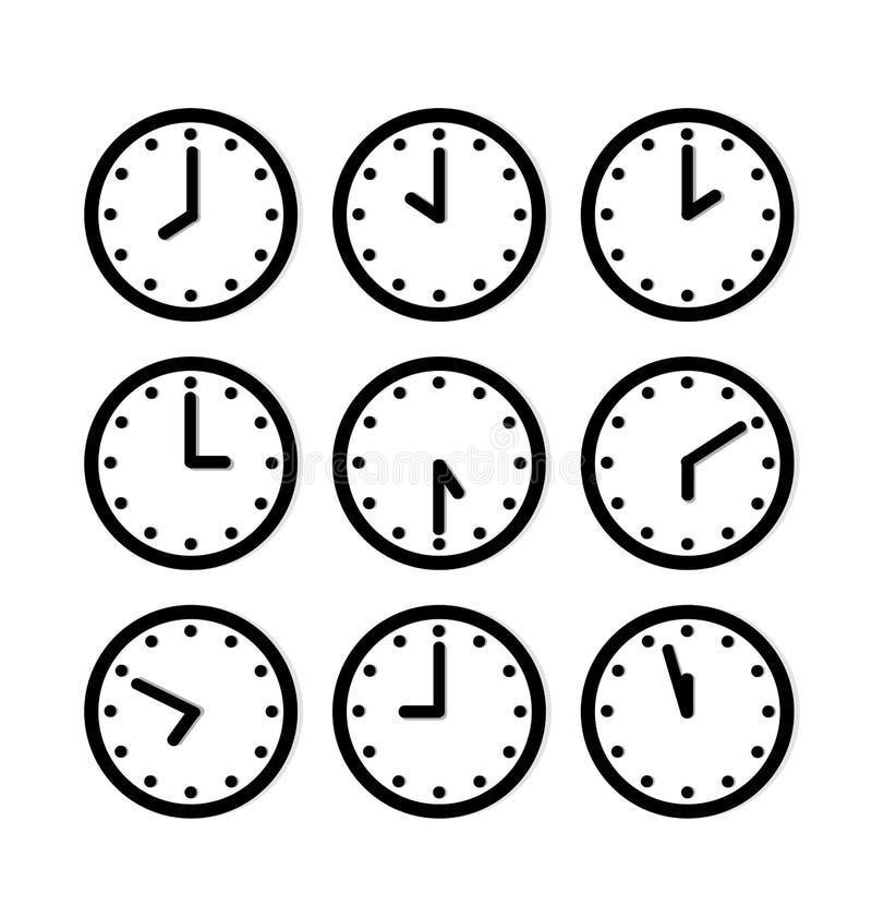 Icône d'horloge de silhouette illustration libre de droits