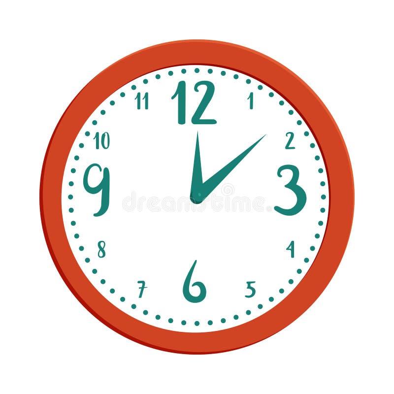 Icône d'horloge murale dans le style de bande dessinée illustration de vecteur