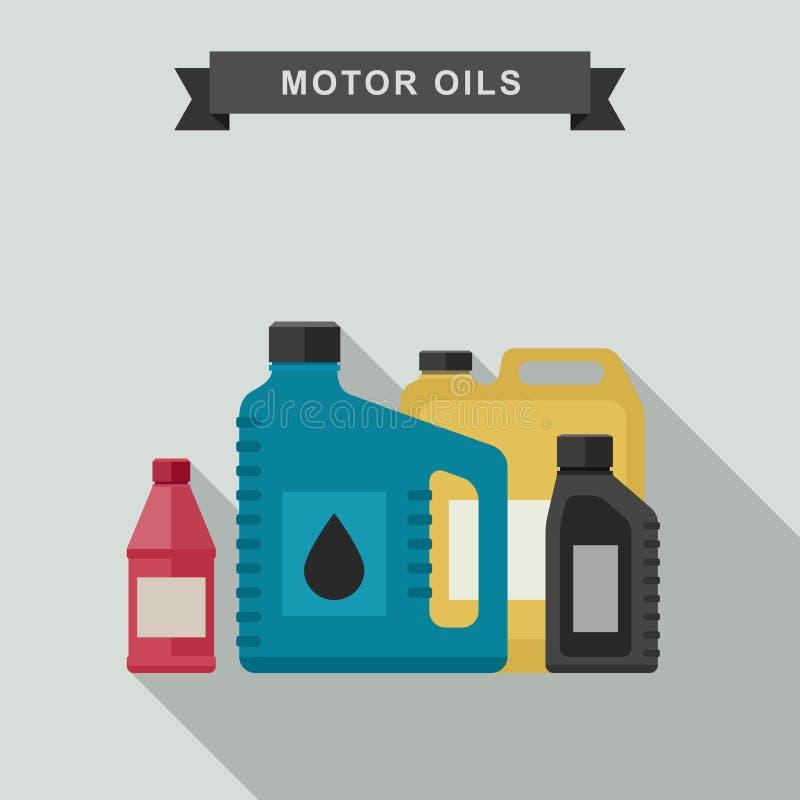 Icône d'huiles de moteur illustration libre de droits