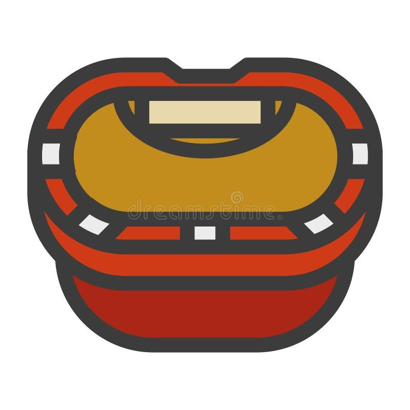Icône d'illustration de table de tisonnier illustration de vecteur
