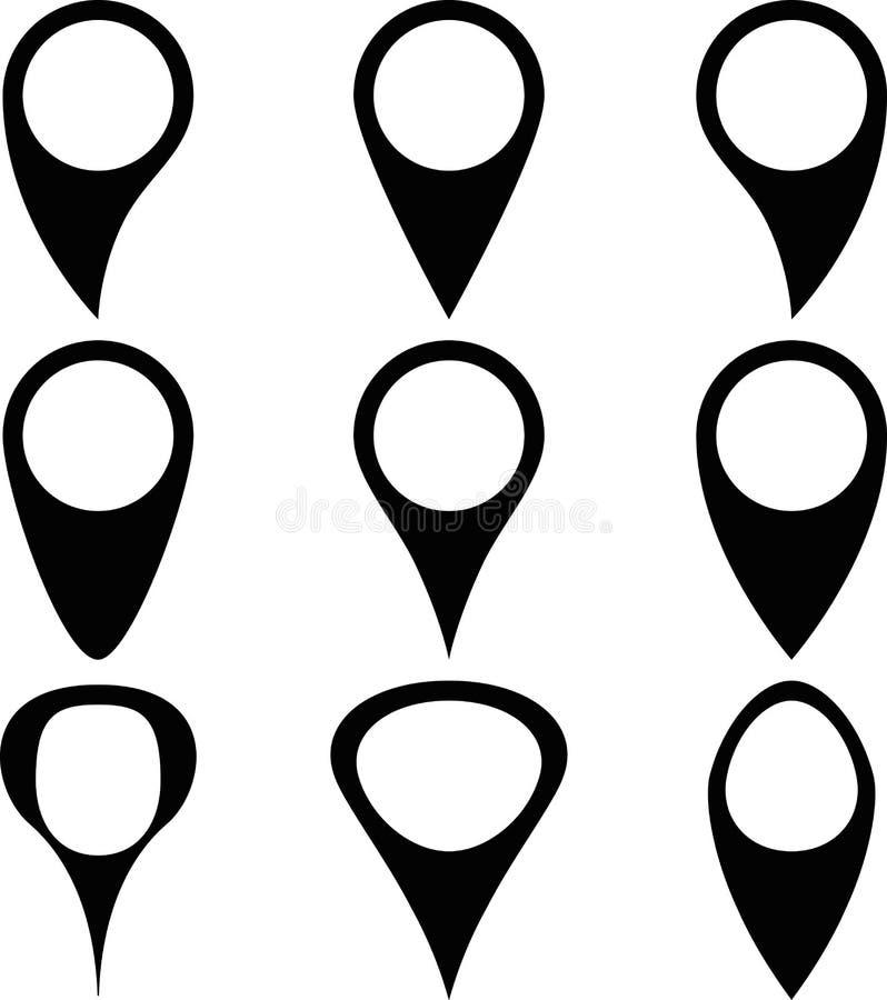 Icône d'indicateur de marqueur de carte de Pin illustration libre de droits