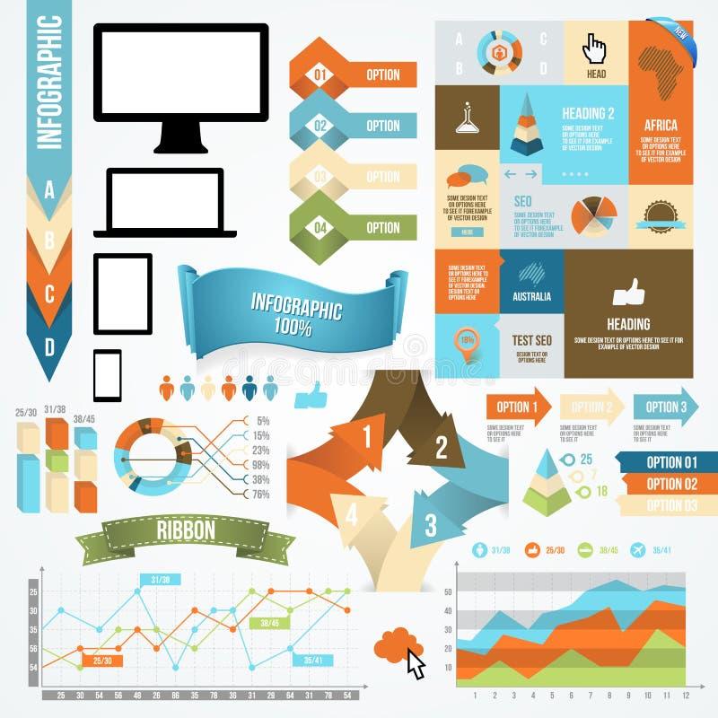 Icône d'Infographic et collection d'élément illustration stock