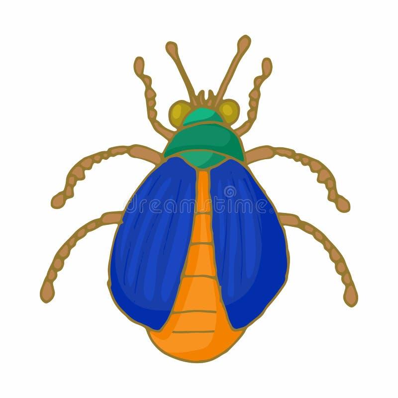 Icône d'insecte d'insecte, style de bande dessinée illustration libre de droits