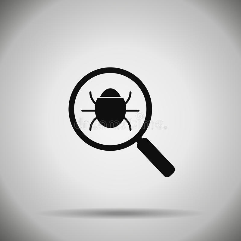 Icône d'insecte de recherche virus illustration de vecteur