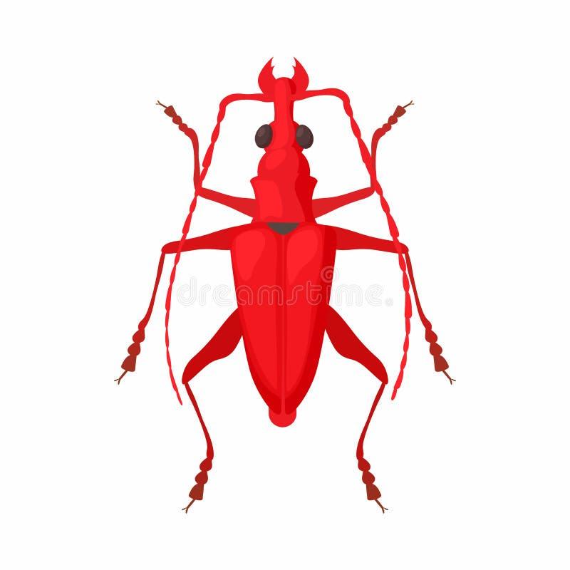 Icône d'insecte, style de bande dessinée illustration libre de droits