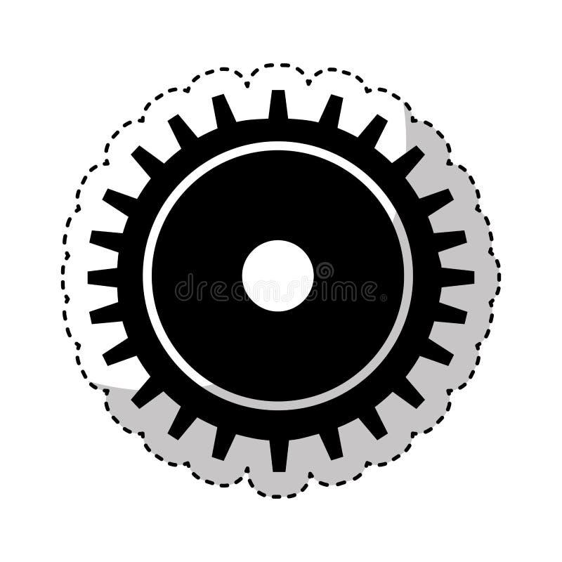 Icône d'installation de machine de vitesse illustration de vecteur
