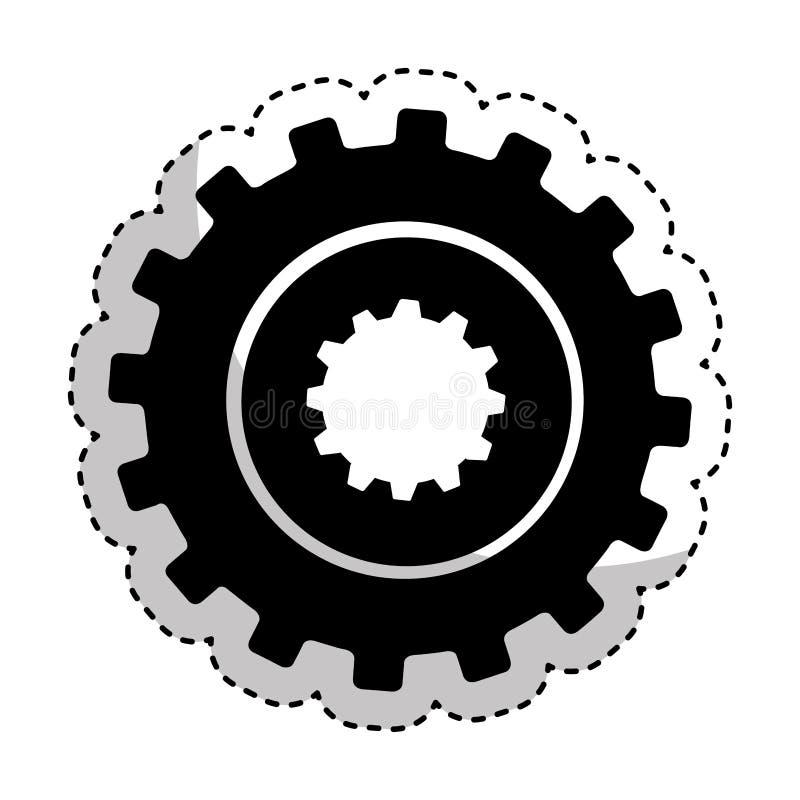 Icône d'installation de machine de vitesse illustration stock